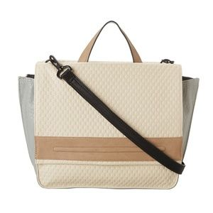 French Connection This Natural Adored Cord Satchel